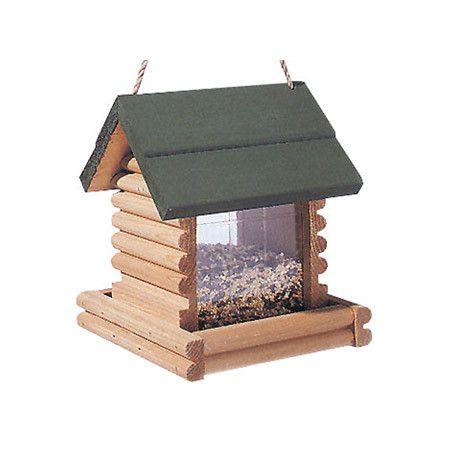 Log Cabin Birdfeeder