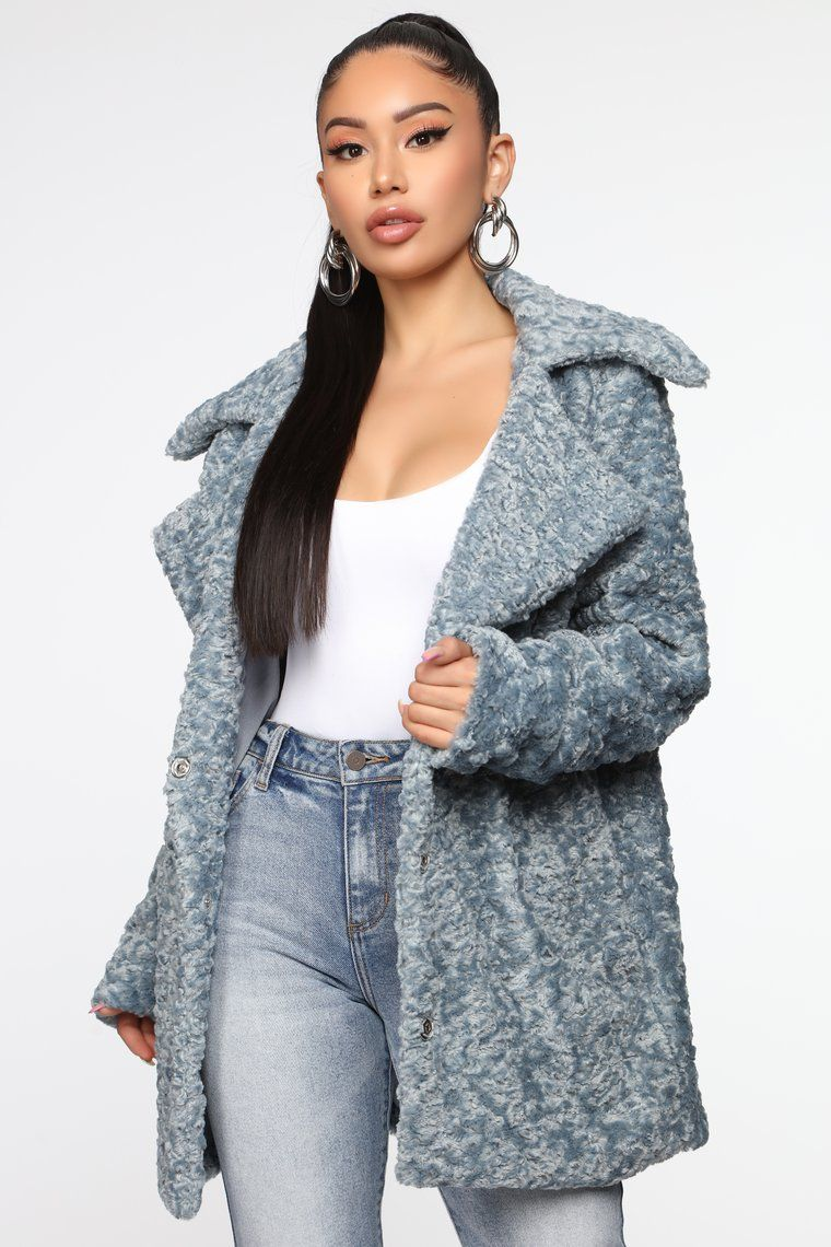 For The Best Faux Fur Jacket Light Blue In 2020 Faux Fur Jacket Fur Jacket Fashion Nova Outfits