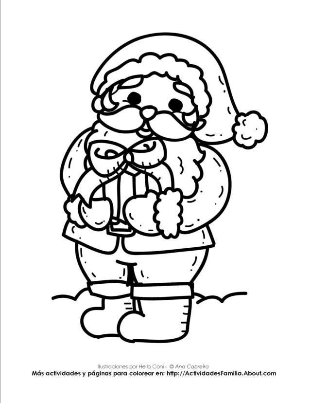Dibujos de navidad para colorear | imagenes looiu | Pinterest ...