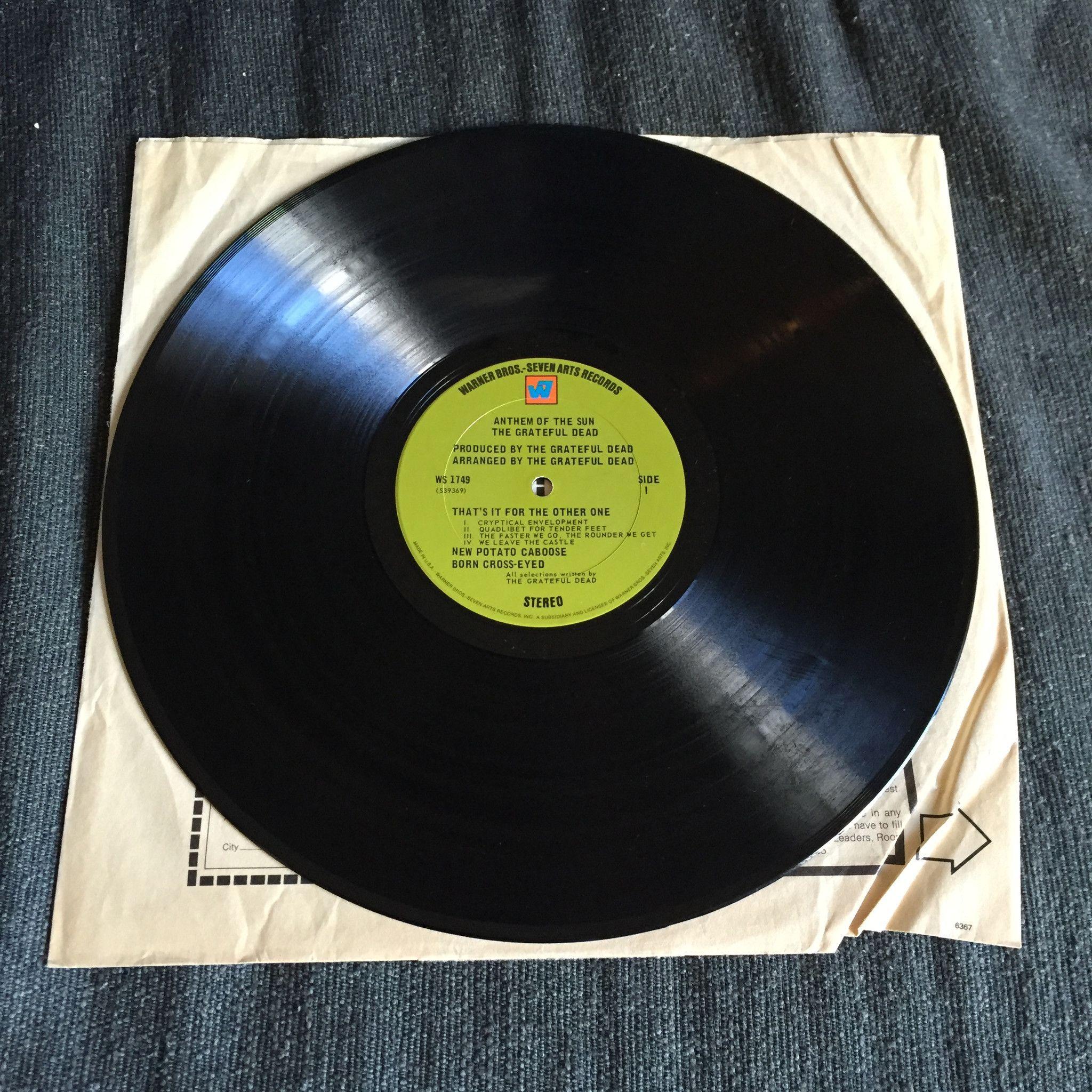 Grateful Dead Anthem Of The Sun Used Lp Used Vinyl Records Grateful Dead Vinyl Records