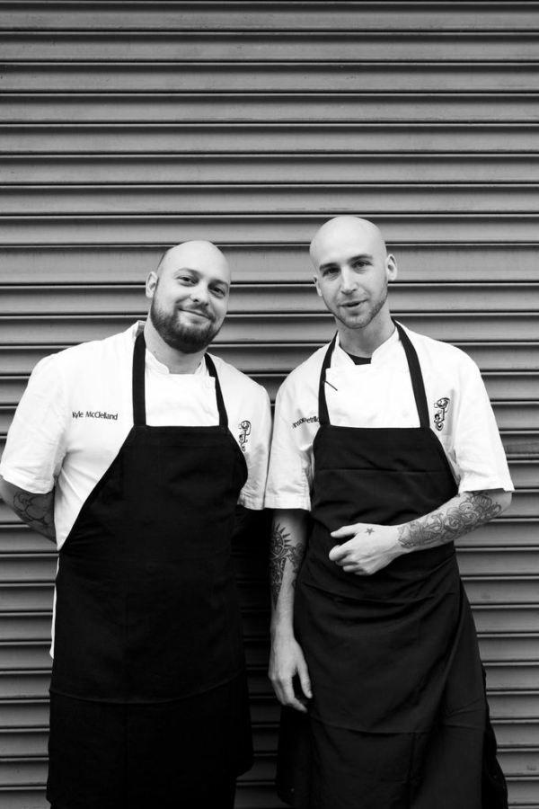 Chef Kyle McClellad and Vinson Petrillo of prospect brooklyn