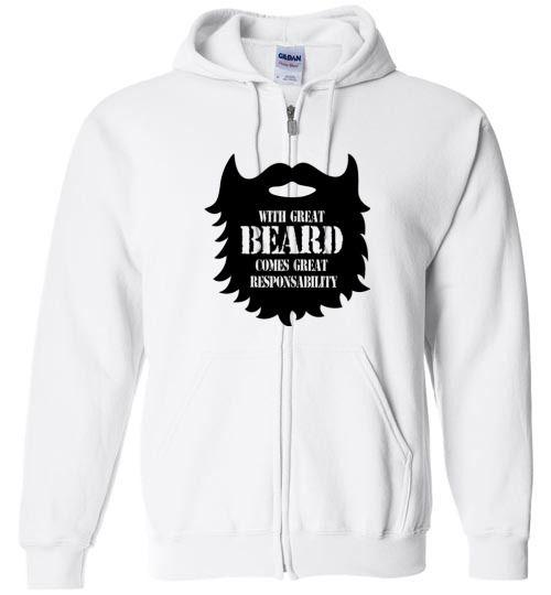 cool Fear the Beard Unisex Zip Hoodie Check more at https://crazeline.com/product/fear-the-beard-zip-hoodie-shirt-3/