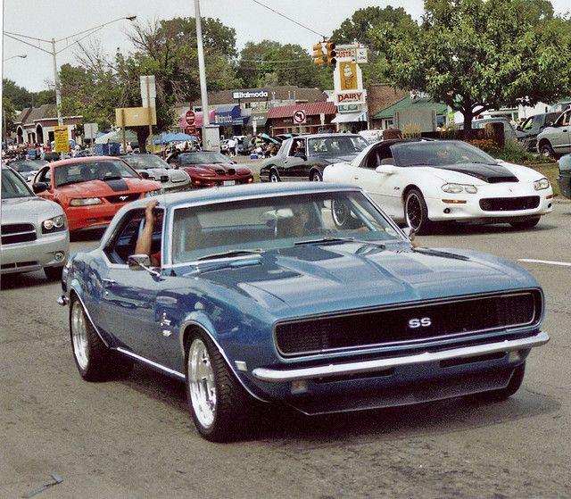 A Blue 1968 Chevy Camaro...