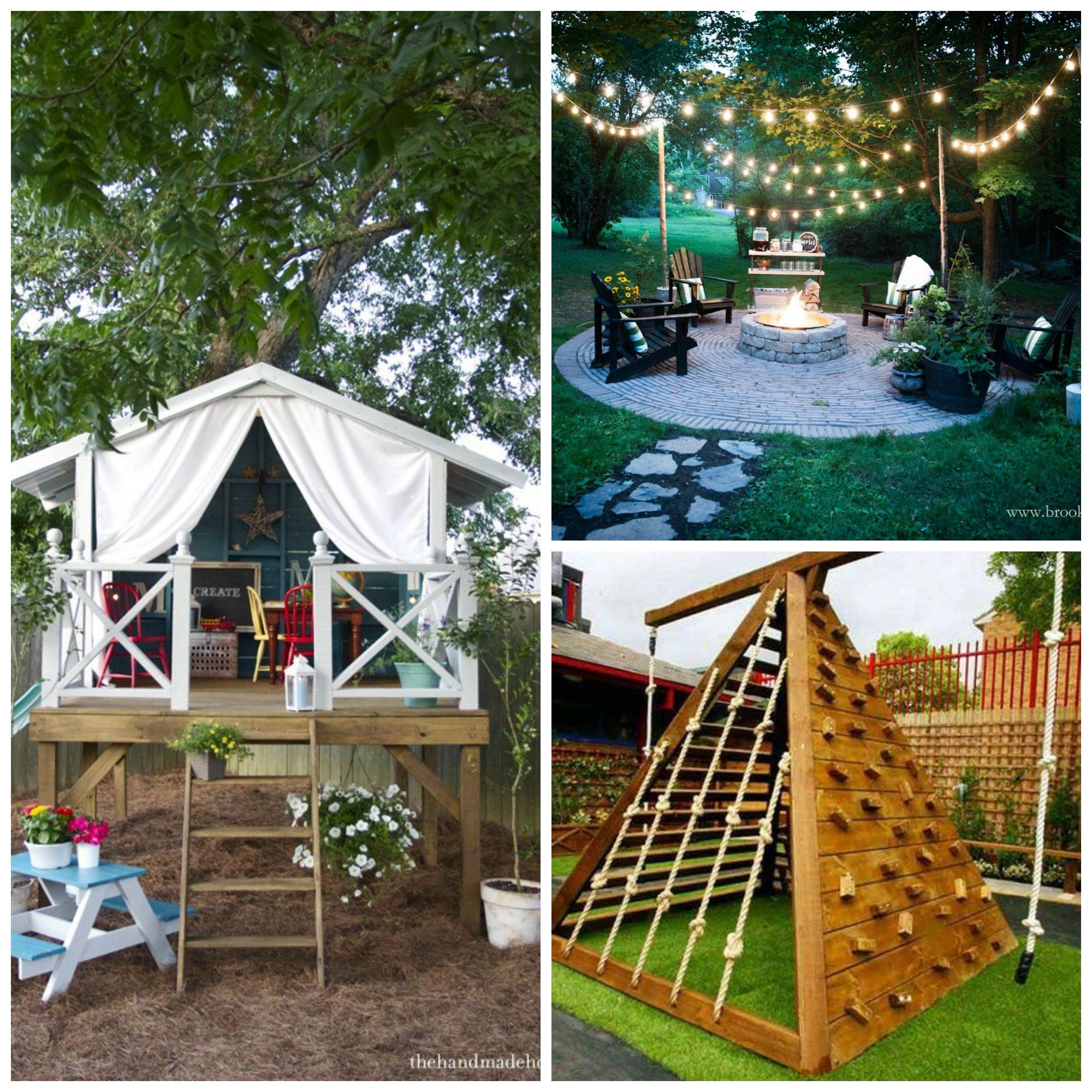 12 Great Ideas For A Modest Backyard: 12 Fun DIY Backyard Ideas Perfect For Any Season