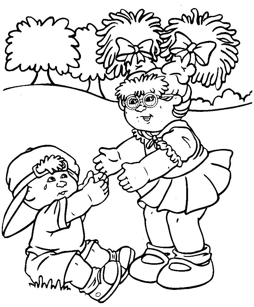 Cabbage Patch Kids Want To Hold A Crying Child Bear Coloring