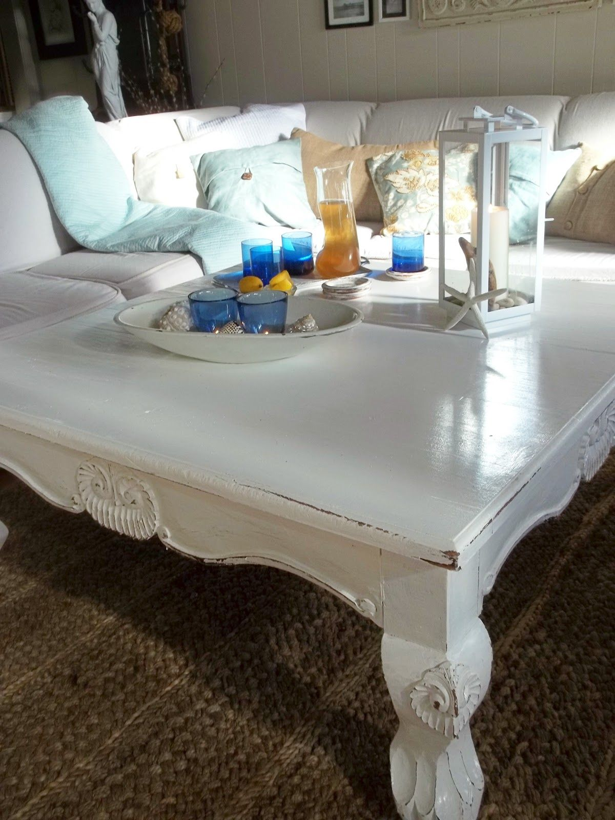 White Coffee Table, If I have a brown couch then my coffee