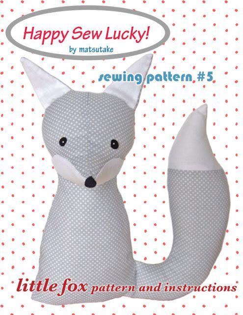 Free Fox Sewing Pattern   matsutake   Softies   Pinterest   Sewing ...