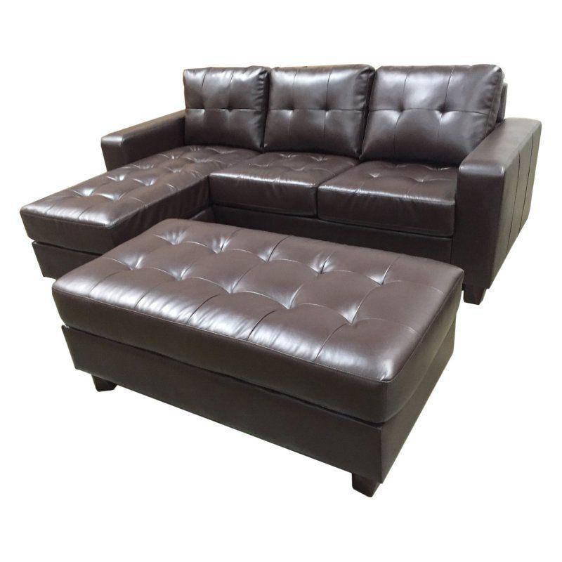 Surprising Abbyson Living Taylor Leather Reversible Sectional And Inzonedesignstudio Interior Chair Design Inzonedesignstudiocom
