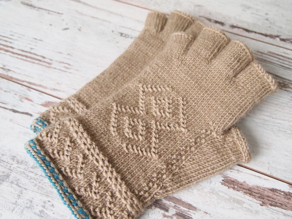 Knitting By Post Facebook : Larus ardea mittens using the twined knitting technique