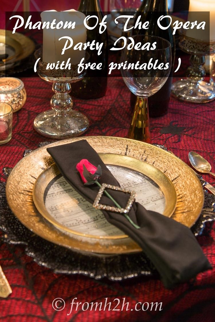 Phantom Of The Opera Party Ideas With Free Music Score And Mask Plate Printables Want To Throw A