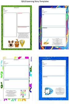 Qklg Eylf Learning Story Templates  Learning Stories Early