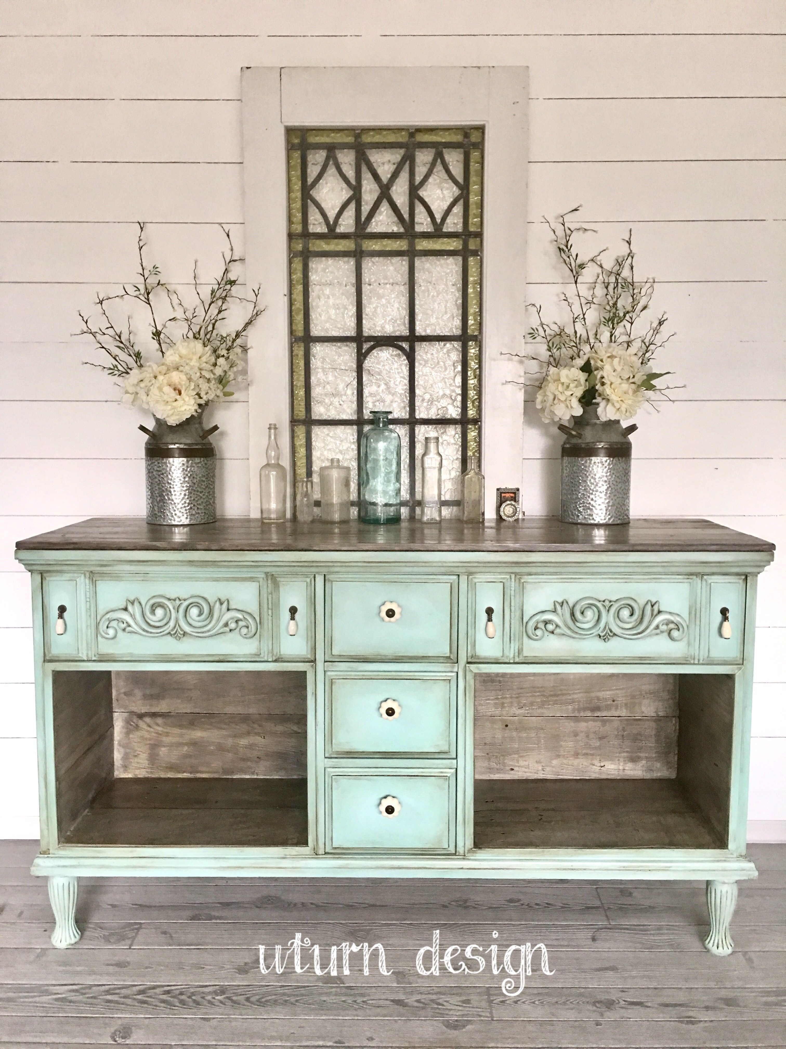 Painted Farmhouse Buffet By UTurnDesign More
