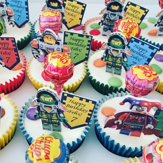 LEGO Nexo Ritter Cupcake topper von HomemadeBirthdays auf Etsy
