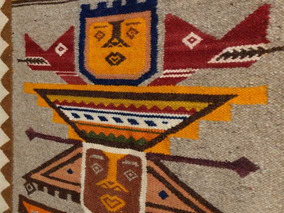 Vintage wall peruvian tapestry textile hanging by lestrictmaximum