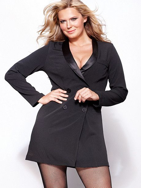 Shawl Collar Tuxedo Dress Plus From Fredericks Of Hollywood My