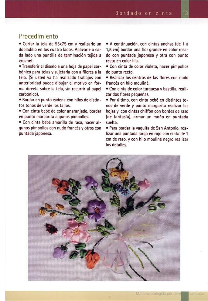 Bordado en cinta / Embroidery: Un breve repaso / A Brief Review - Dolores M. Bayard - Google Libros
