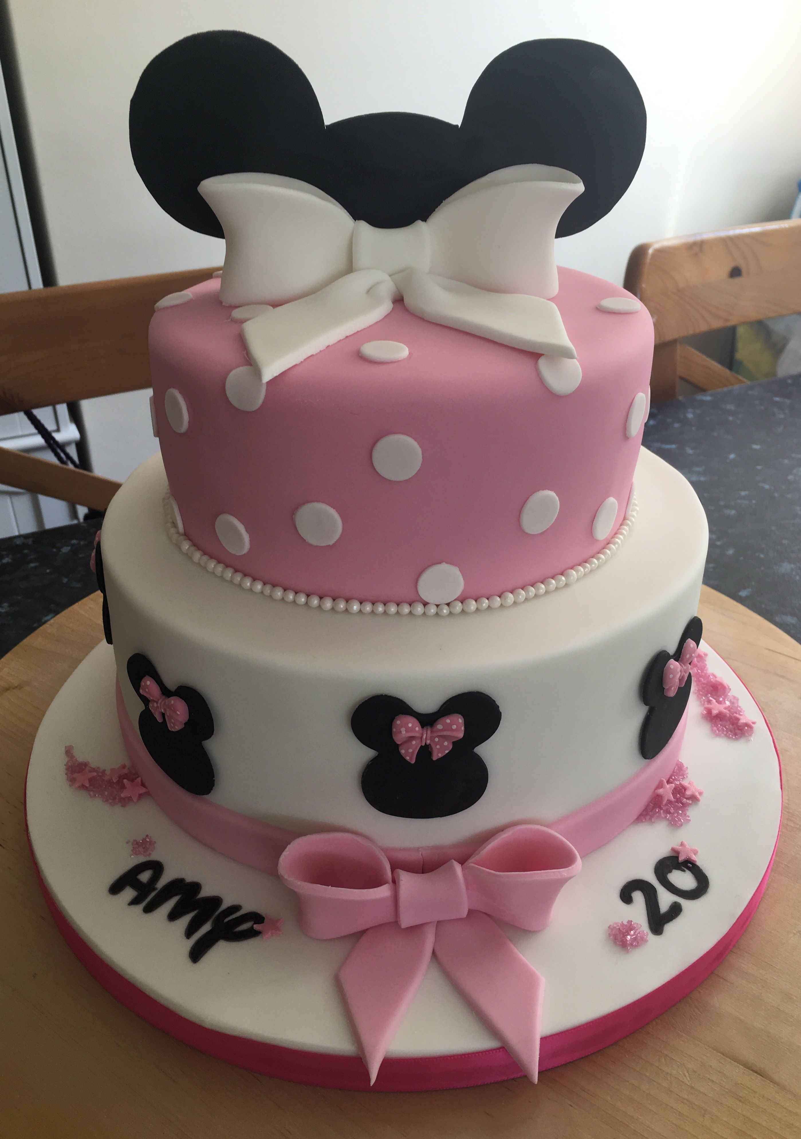 Treatz Cake Design Minnie Mouse Themed Birthday Cake Minnie Cake Minnie Mouse Cake Design Minnie Mouse Cake