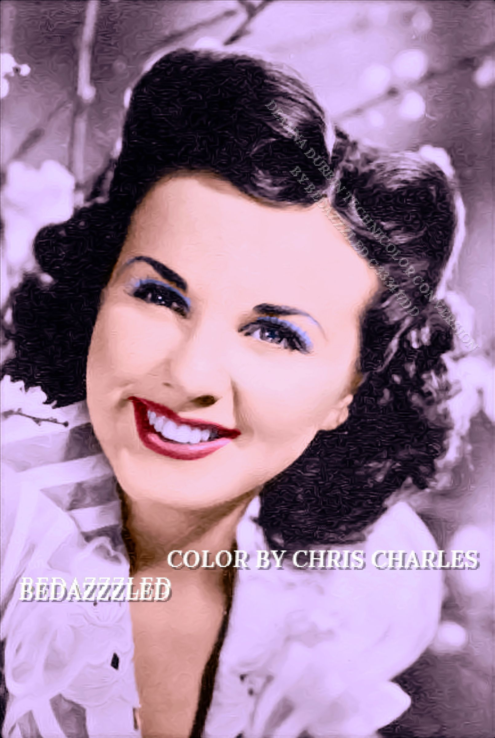 DEANNA DURBIN BEDAZZZLED TECHNICOLOR CONVERSION BY BEDAZZZLED FROM B/W PRINT (With images ...
