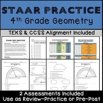 4th GRADE MATH STAAR Geometry TEKS 4 6D 4 7C 4 6A 4 6B 4 6