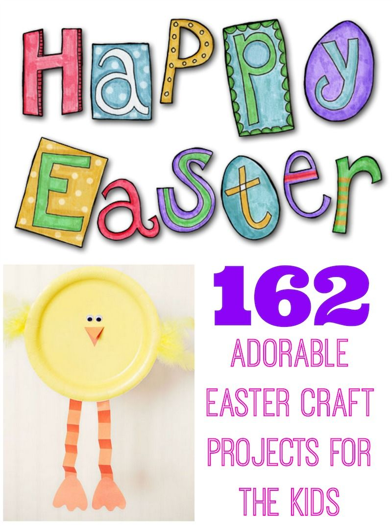 162 Adorable Easter Crafts For The Kids: Amazing Round Up! #easter #kids #crafts