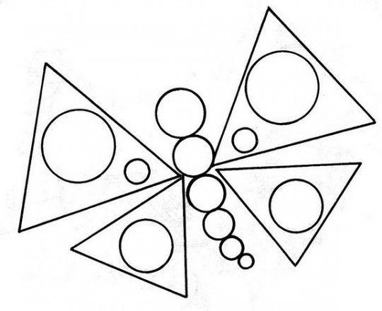 Figurasgeometricasparacolorearmariposa540x440jpg 540440