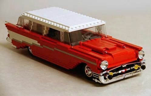 Lego 1957 Chevy Bel Are Wagon Lego Chevrolet Lego Lego Cars