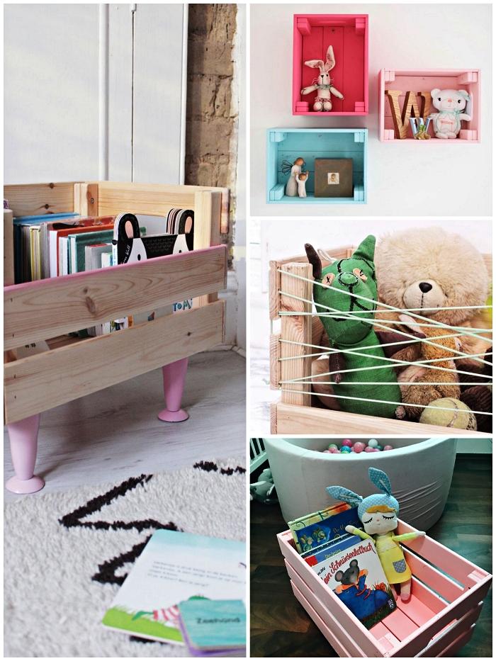 1001 + idées pour détourner une caisse en bois ikea en 2020   Caisses ikea, Rangement jouet ...