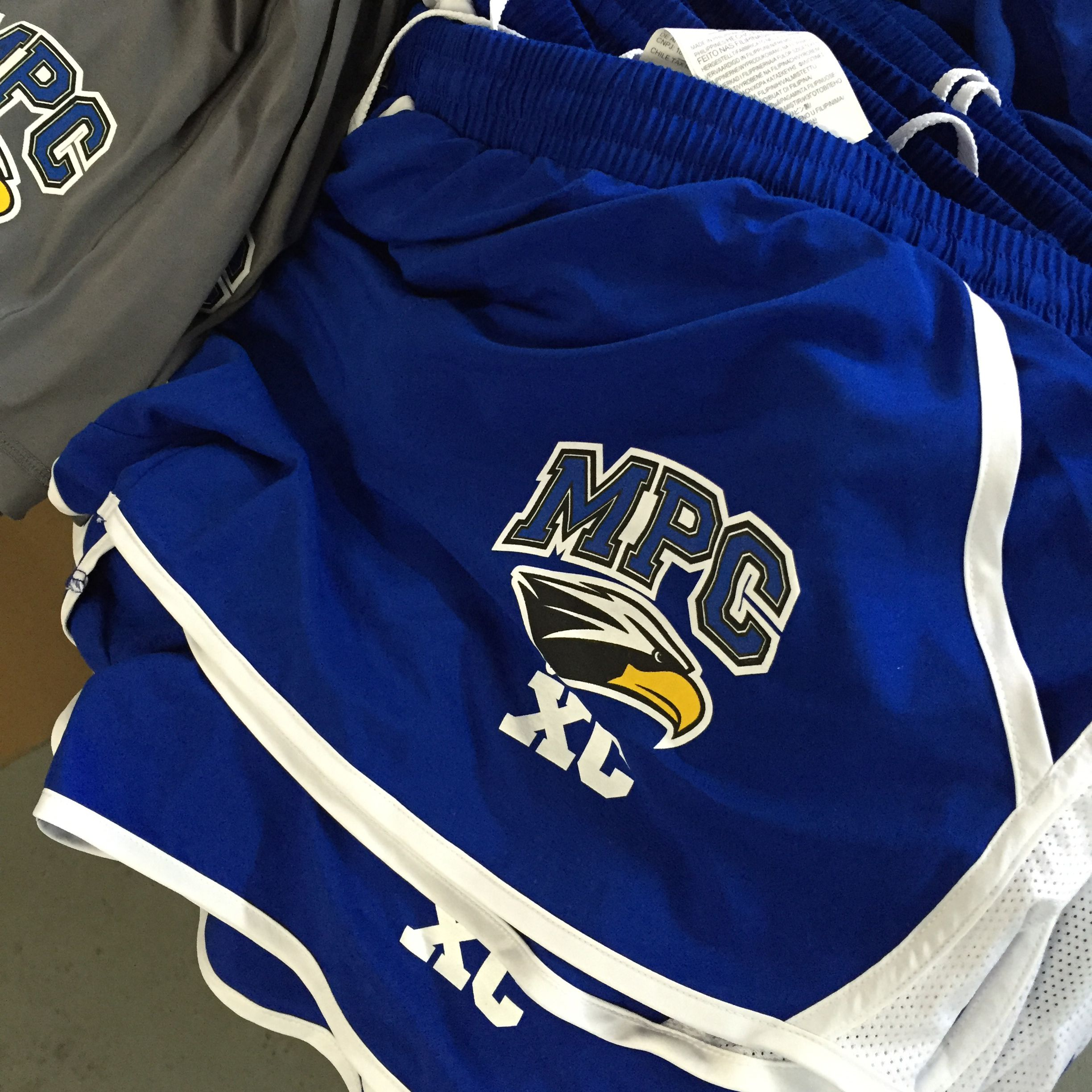 We print more than just shirts! Custom Athletic shorts for a school.