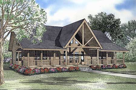 Plan 59038ND: Vaulted Ceilings and Lots of Light | Rustic floors ...