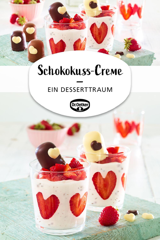 Schokokuss-Creme mit Erdbeeren