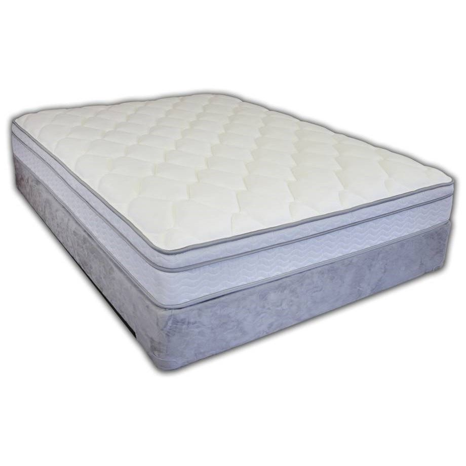 Sop Boulder Euro Top Queen Euro Pillow Top Mattress Set By Spring