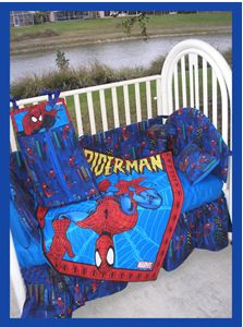 I Would Like Opinions On This Spiderman Baby Bedding Set How Do You Think It Will Look In A Small Nursery S Very Red And Blue