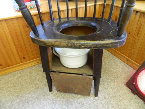 Vintage 1800\'s Early 1900\'s Potty Chair with Ceramic Chamber Pot ...