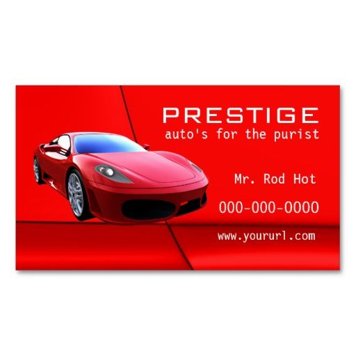 7 Automotive Industry Business Card