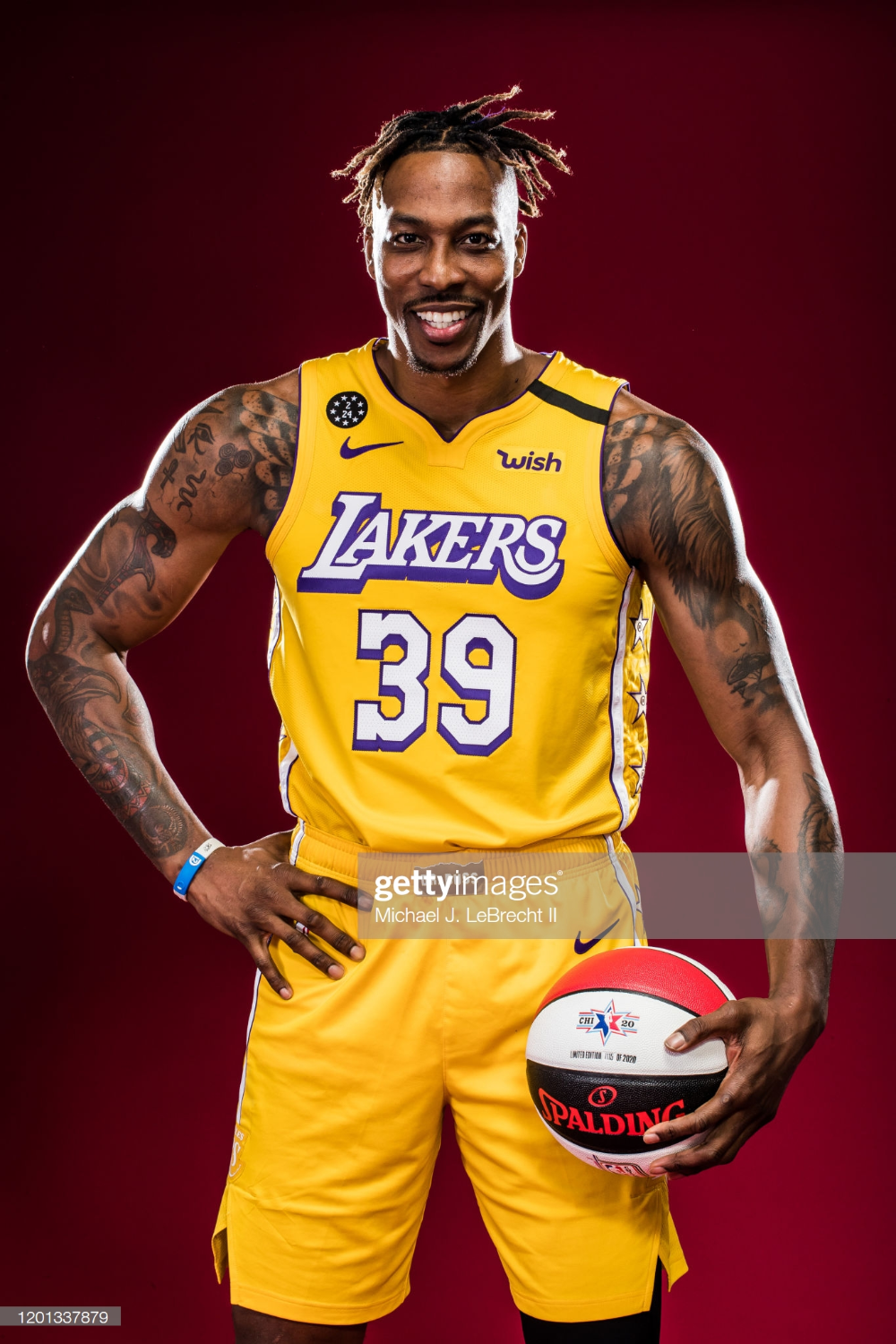 Dwight Howard Of The Los Angeles Lakers Poses For A Portrait During Los Angeles Lakers Dwight Howard Lakers