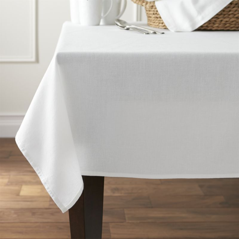 Shop Abode White Tablecloththe Perfect Foundation For Any Table Interesting Dining Room Tablecloths Inspiration Design