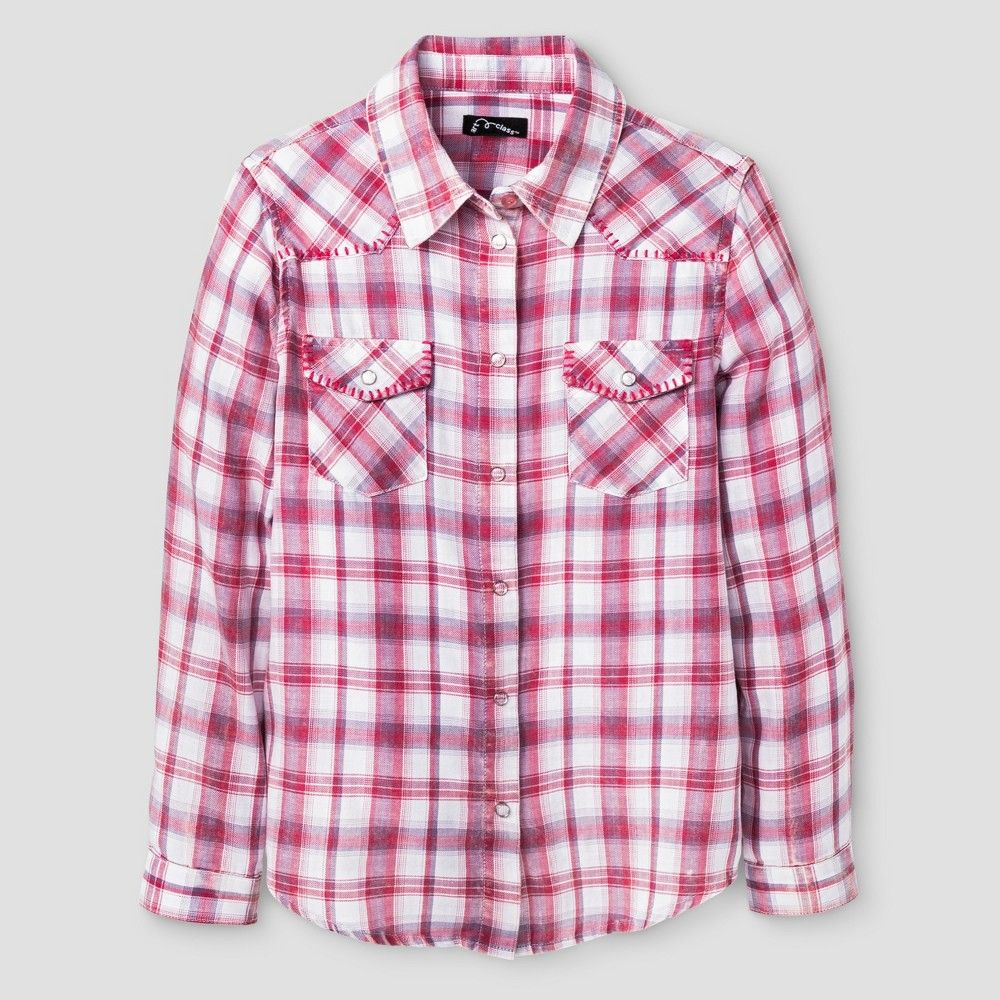 Flannel shirt for girls  Girlsu Flannel Shirt Art Class  Casual Pink XL Girlus  Products