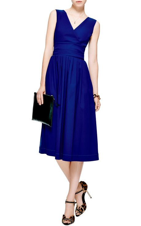 Novak Dress by Preen - Moda Operandi Vestido escote V cruzado con