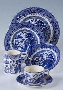 Love My Collection Of Cuthbertson Blue Willow Dinnerware Made In England Since 1850 Earthenware