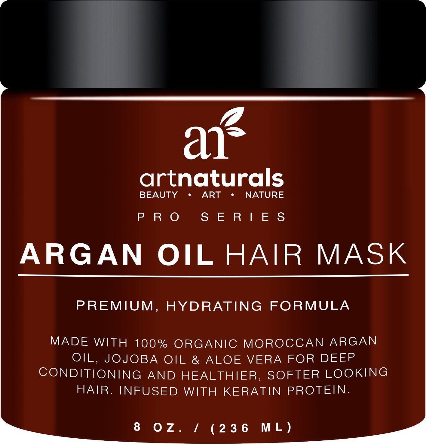 Artnaturals Argan Oil Hair Mask Deep Conditioner 100 Organic Jojoba Aloe Vera And Keratin Rep Argan Oil Hair Mask Argan Oil Hair Natural Hair Conditioner