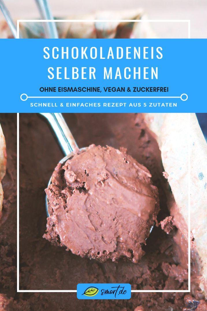 Einfaches veganes Schokoladeneis | cremig & zuckerfrei