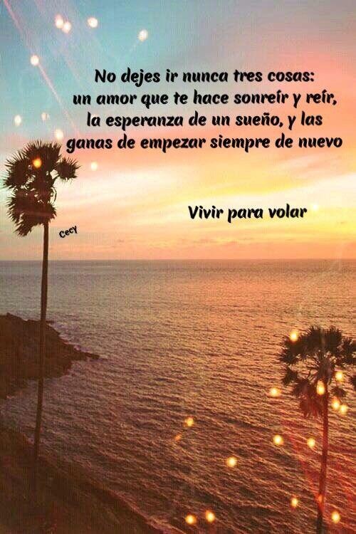 No Dejes Ir El Amor La Esperanza Y Las Ganas De Vivir Frases