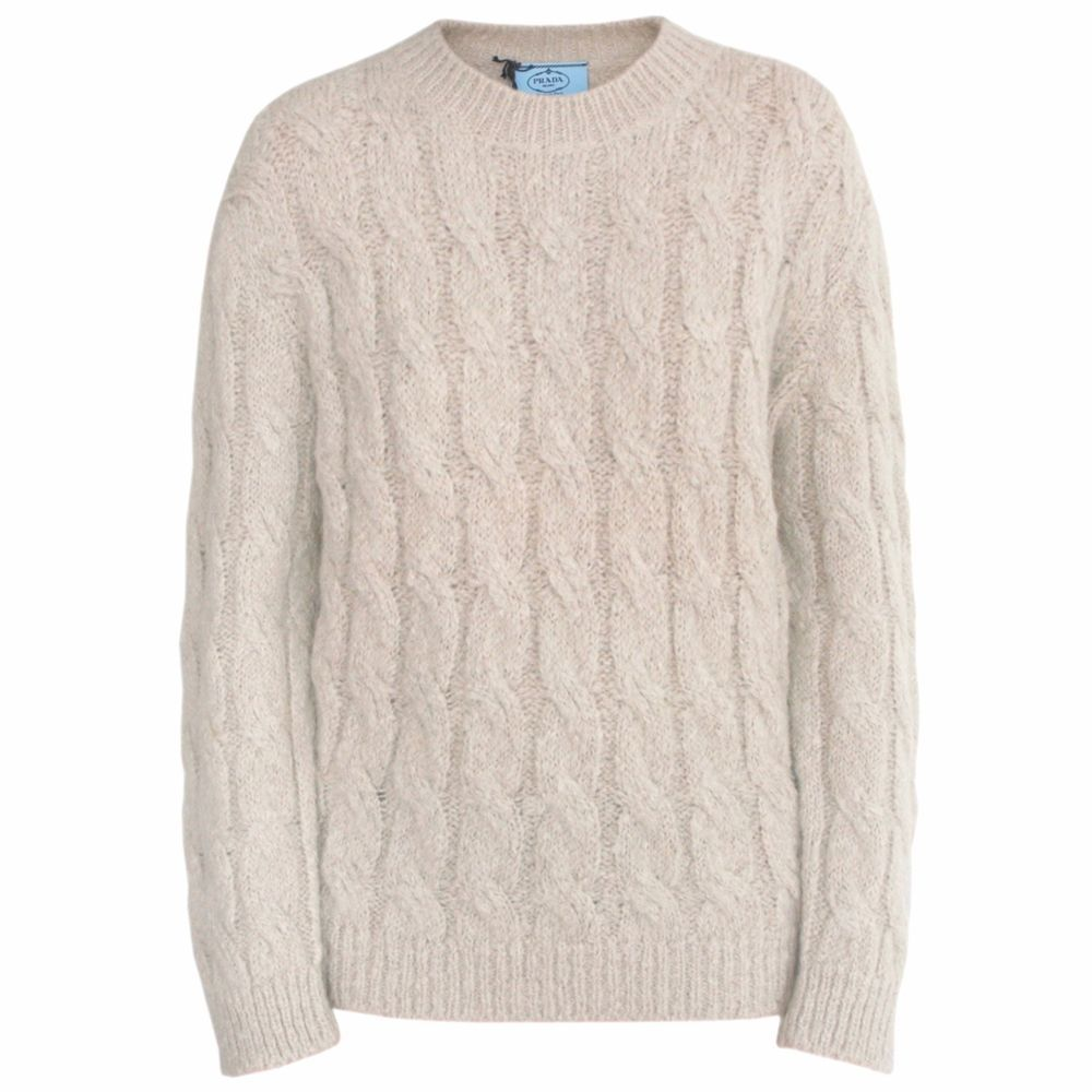 Prada cable-knit jumper Free Shipping Cheap Real 100% Original For Sale Outlet New Styles Clearance Sneakernews Free Shipping Geniue Stockist 3aqIArt