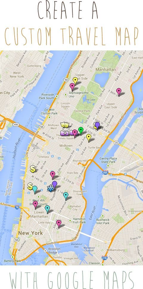 How To Create A Custom Travel Map With Google Maps New Google My - Customizable us map