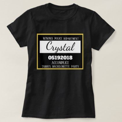 personalized jail bachelorette party maid of honor t shirt party