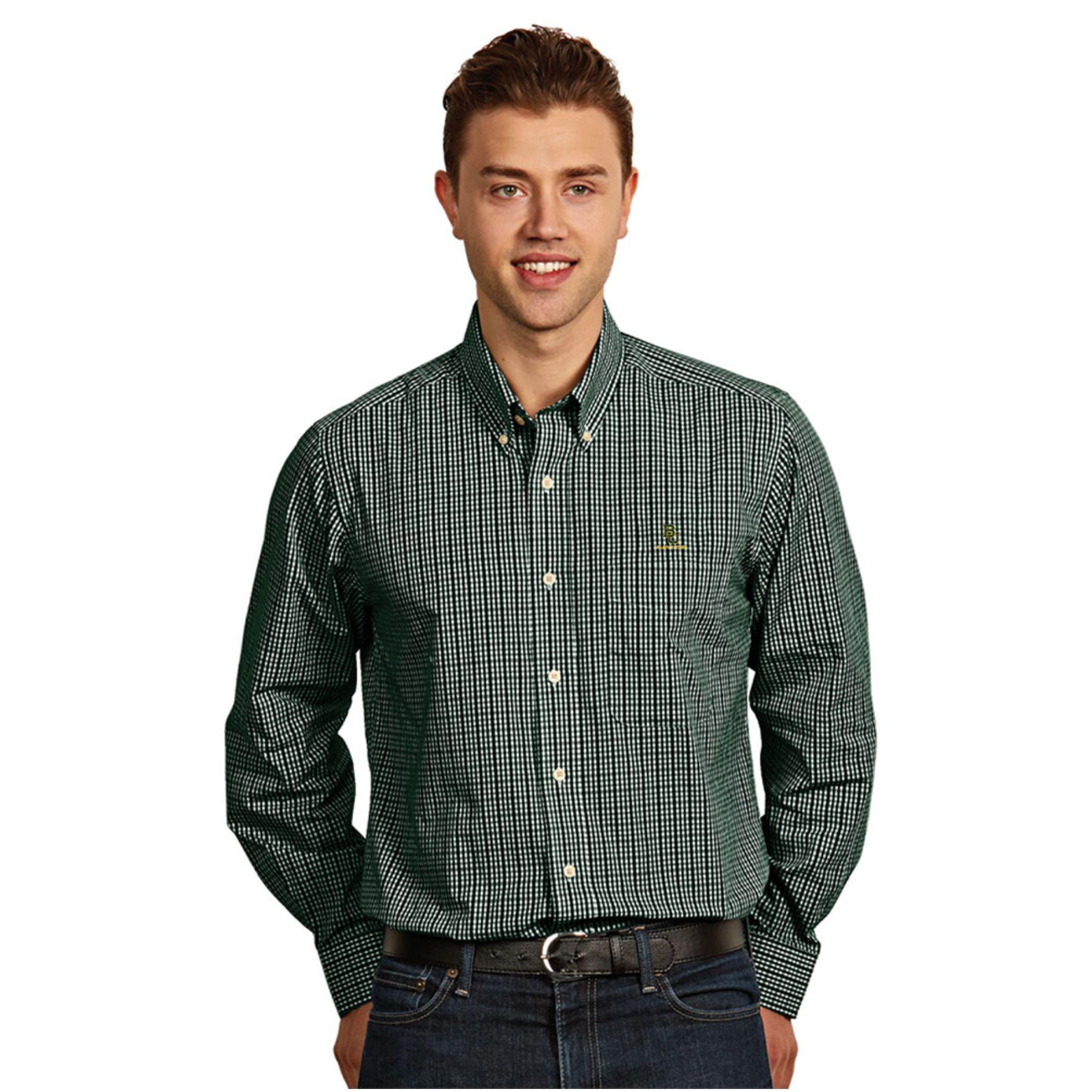 Baylor Bears Ncaa Monarch Men S Long Sleeve Shirt Dark Pine Small Long Sleeve Shirt Men Long Sleeve Shirts Shirt Dress [ 1800 x 1800 Pixel ]