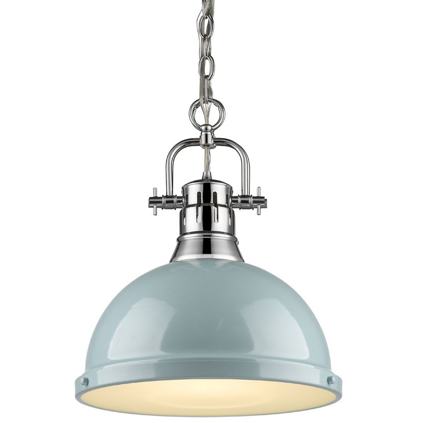 Duncan Chain Pendant With Diffuser By Golden Lighting 3602 L Pw Bk Classic Pendant Lighting Kitchen Pendant Lighting Kitchen Island Lighting