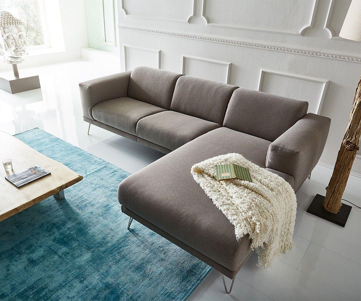 ecksofa lordina 260x185 grau ottomane rechts premium sofatr ume sofa graues sofa und couch. Black Bedroom Furniture Sets. Home Design Ideas