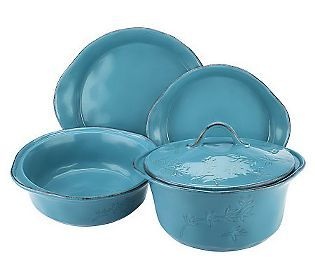 Rachael Ray Cucina Rustica 5 Piece Stoneware Baker Set With