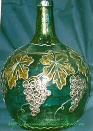 Garrafon pintado con vitral